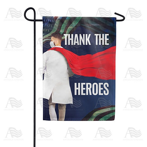 Thank The Heroes Double Sided Garden Flag