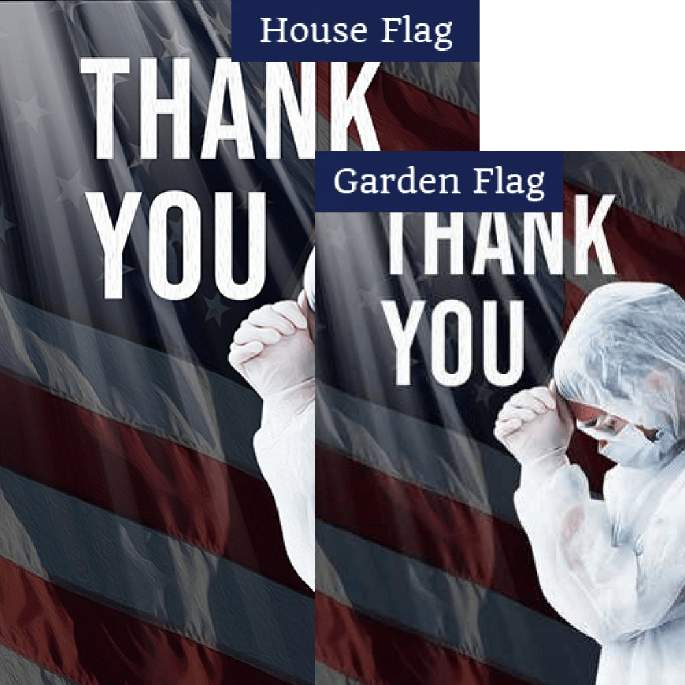 America Says Thank you Flags Set (2 Pieces)