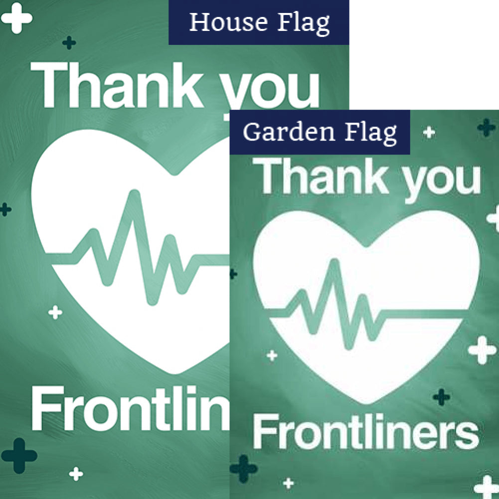Thank You Frontliners Flags Set (2 Pieces)