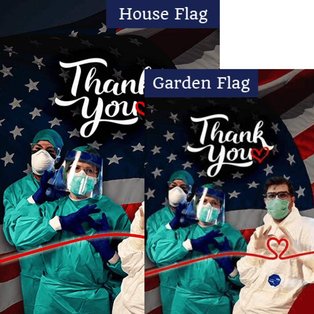 Thanks To Lifeline Of Our Nation Flags Set (2 Pieces)