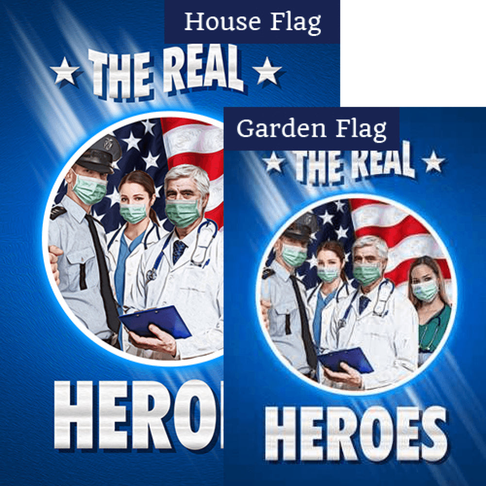 The Real Masked Heroes Flags Set (2 Pieces)
