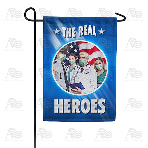 The Real Masked Heroes Double Sided Garden Flag