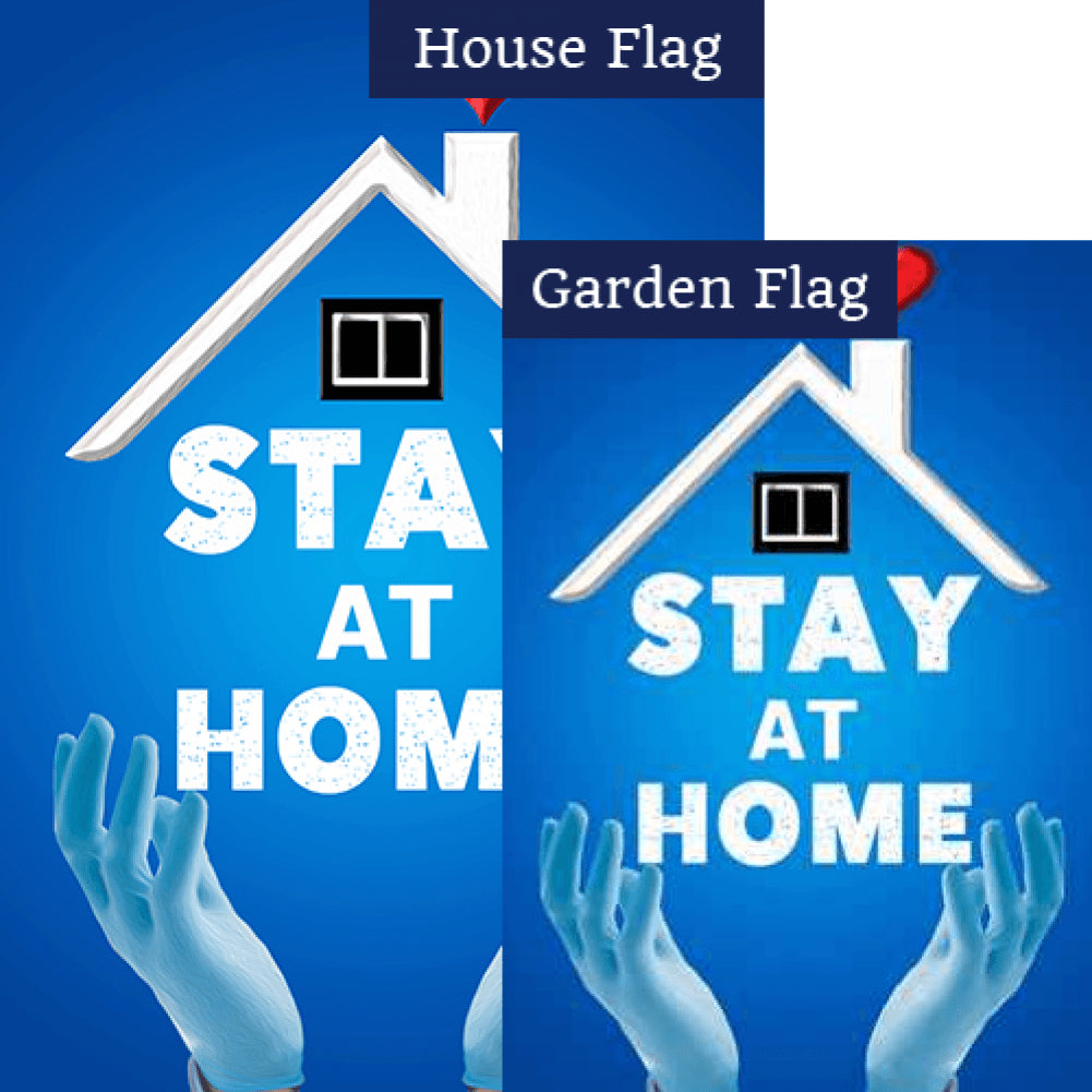 Stop Virus, Stay Home Flags Set (2 Pieces)