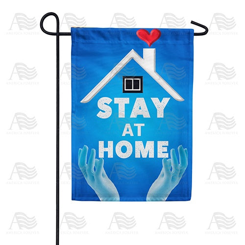 Stop Virus, Stay Home Double Sided Garden Flag