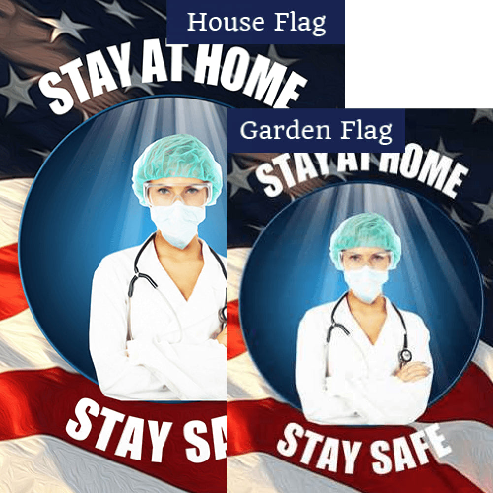 Doctor's Orders Stay At Home Flags Set (2 Pieces)