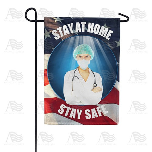 Doctor's Orders Stay At Home Double Sided Garden Flag