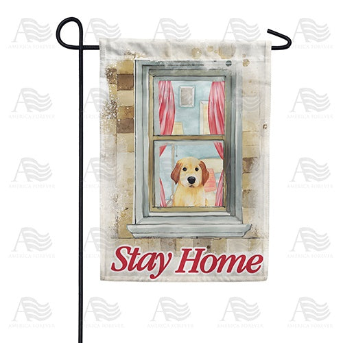 Please Obey And Stay Home Double Sided Garden Flag