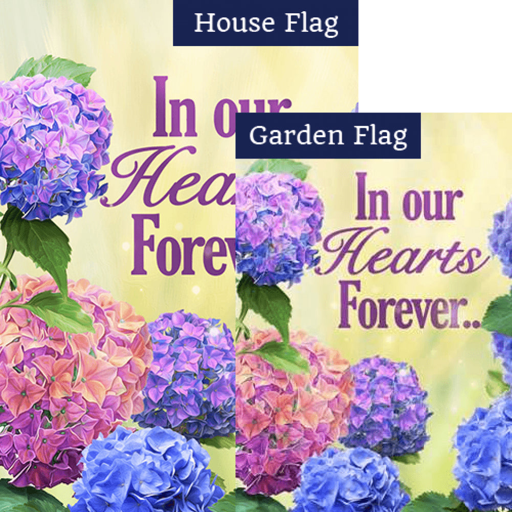 In Our Hearts Forever Flags Set (2 Pieces)