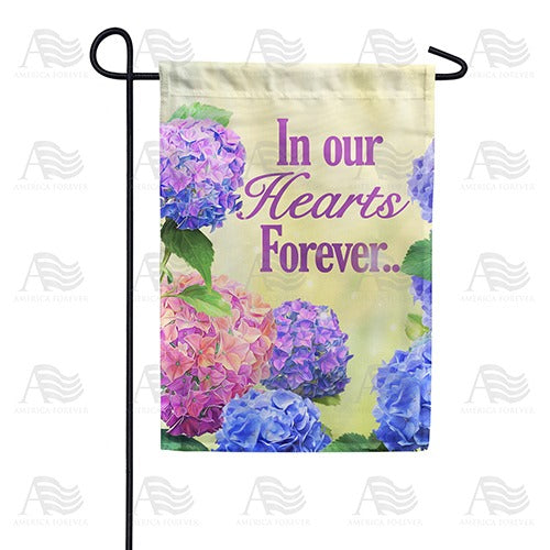 In Our Hearts Forever Double Sided Garden Flag