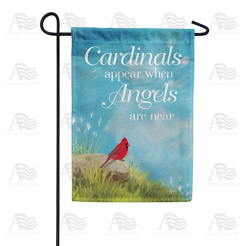 Angels Are Near Double Sided Garden Flag