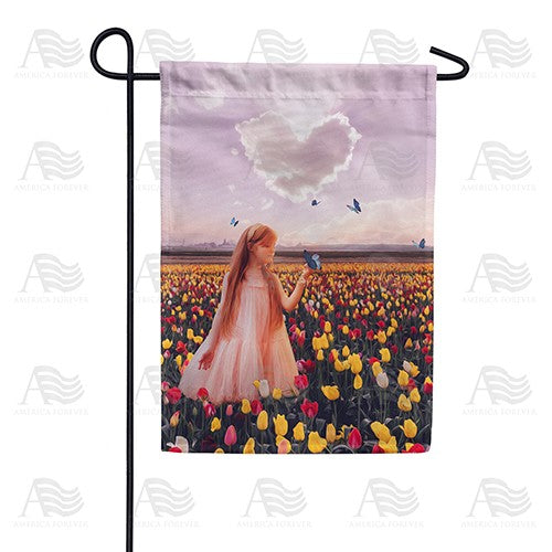 Butterfly Kisses Double Sided Garden Flag
