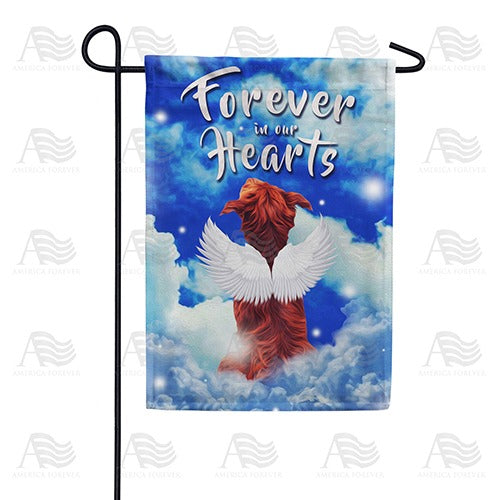 Angelic Dog Double Sided Garden Flag