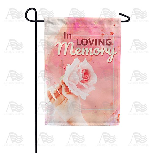 Remembrance Rose Double Sided Garden Flag