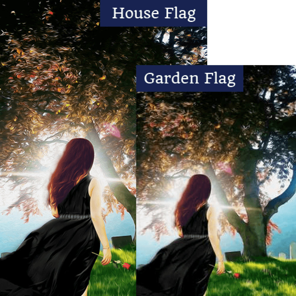 Peaceful Healing Flags Set (2 Pieces)