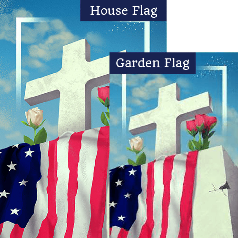 Patriotic Memorial Flags Set (2 Pieces)