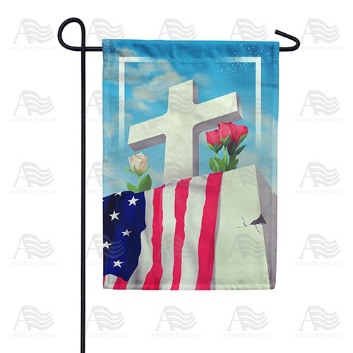 Patriotic Memorial Double Sided Garden Flag