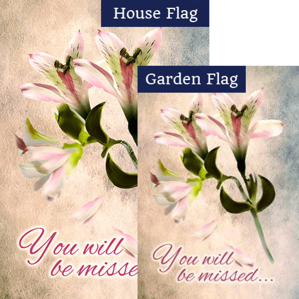 You Will Be Missed Flags Set (2 Pieces)
