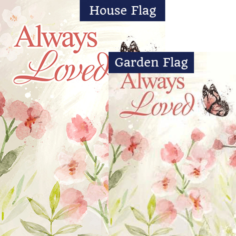 Always Loved Watercolor Flags Set (2 Pieces)