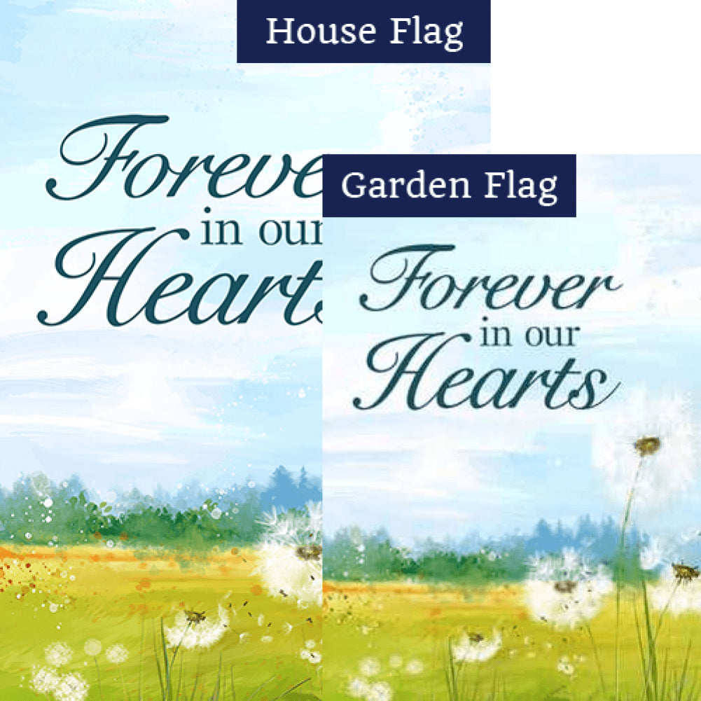 Forever In Our Hearts Dandelion Flags Set (2 Pieces)