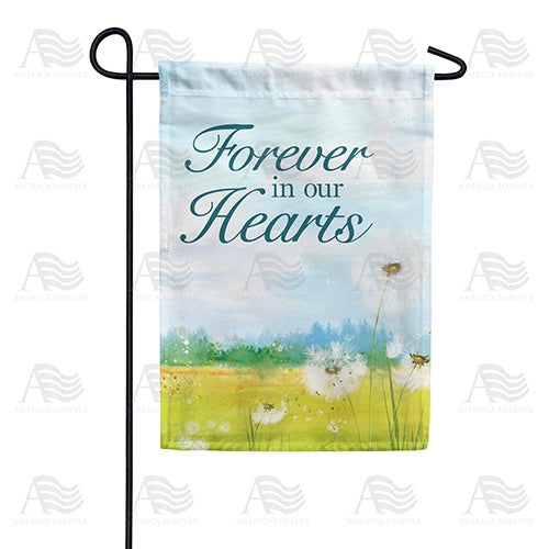 Forever In Our Hearts Dandelion Double Sided Garden Flag