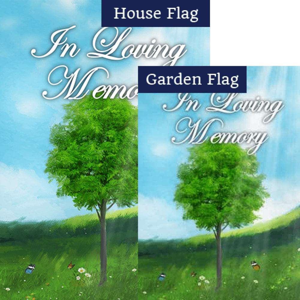 In Loving Memory (Tree) Flags Set (2 Pieces)