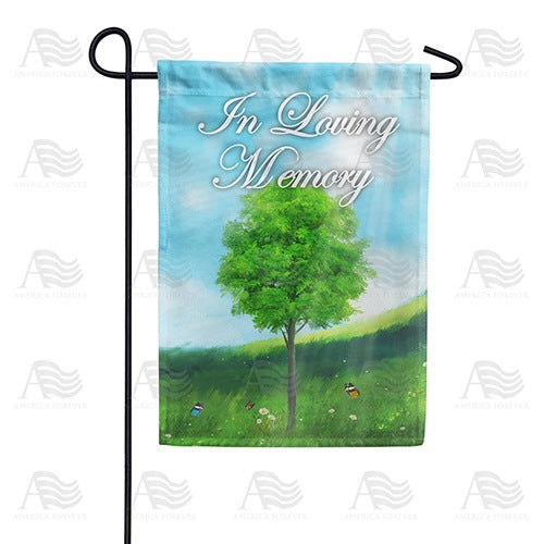 In Loving Memory (Tree) Double Sided Garden Flag