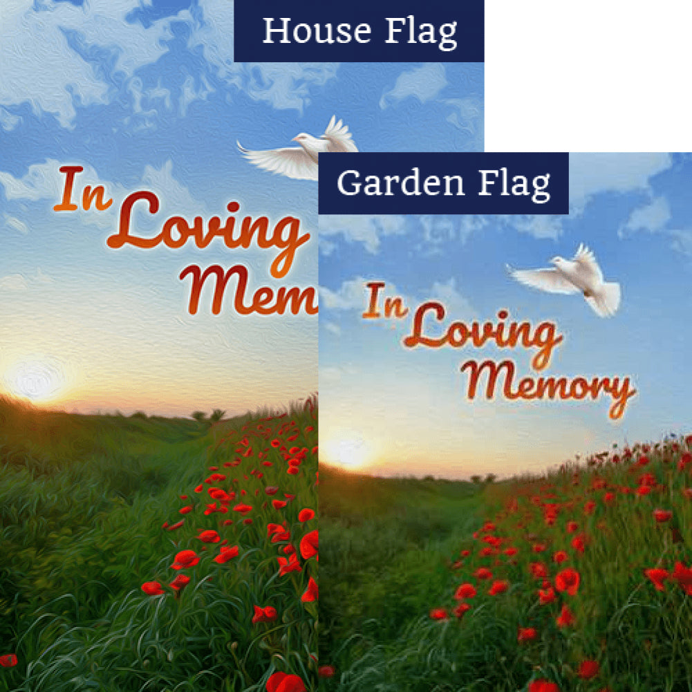 In Loving Memory (Dove) Flags Set (2 Pieces)