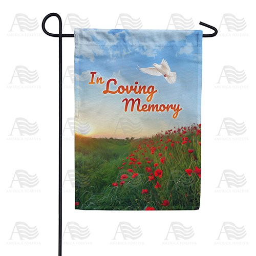 In Loving Memory (Dove) Double Sided Garden Flag