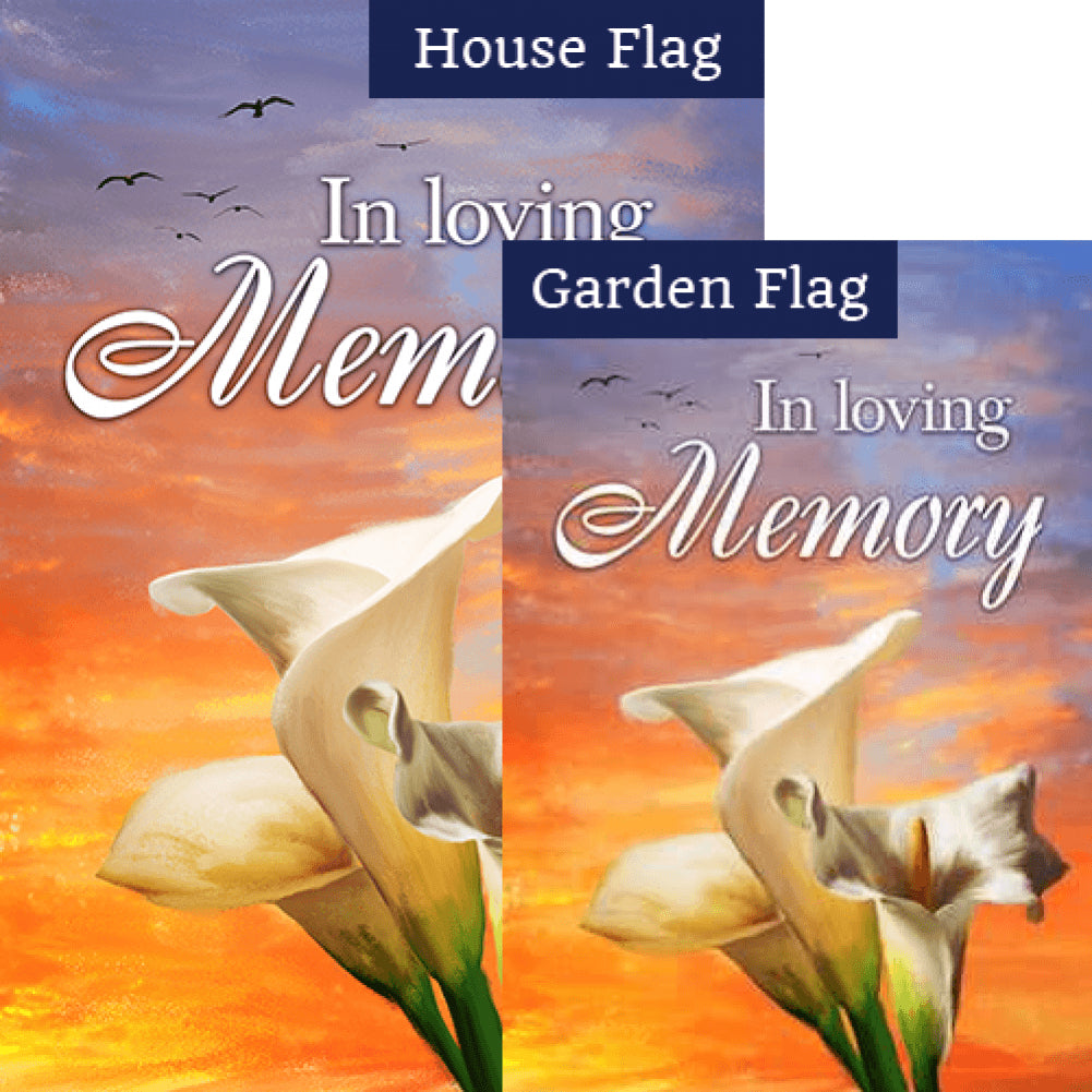 In Loving Memory (Lilies) Flags Set (2 Pieces)