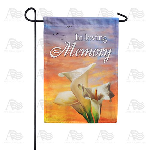 In Loving Memory (Lilies) Double Sided Garden Flag