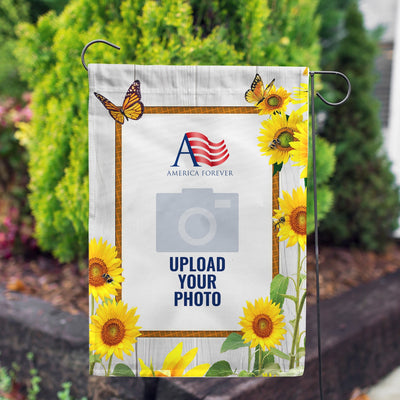 Personalized Country Sunflowers Garden Flag