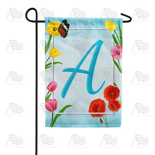 Spring Beauties Monogram Double Sided Garden Flag