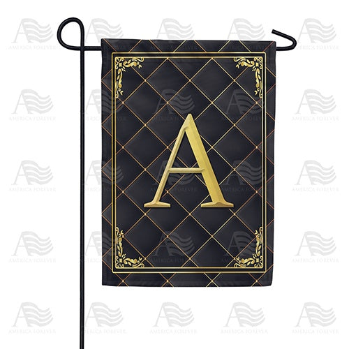 Quilted Royalty Monogram Double Sided Garden Flag