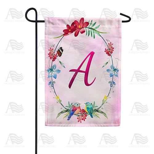 Ring Of Nature Monogram Double Sided Garden Flag