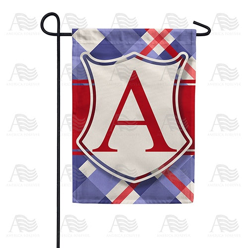 Patriotic Shield Monogram Double Sided Garden Flag
