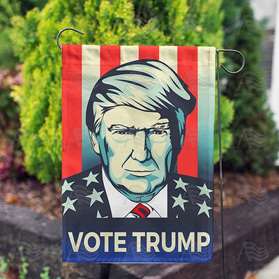 Vote Trump Double Sided Garden Flag