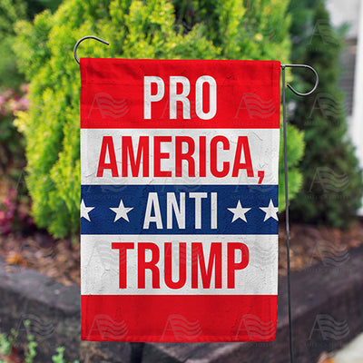 Pro-America Anti-Trump Double Sided Garden Flag