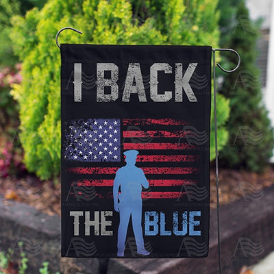 I Back the Blue Double Sided Garden Flag