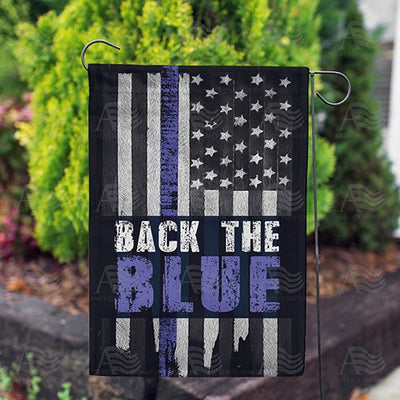 Back the Blue Double Sided Garden Flag