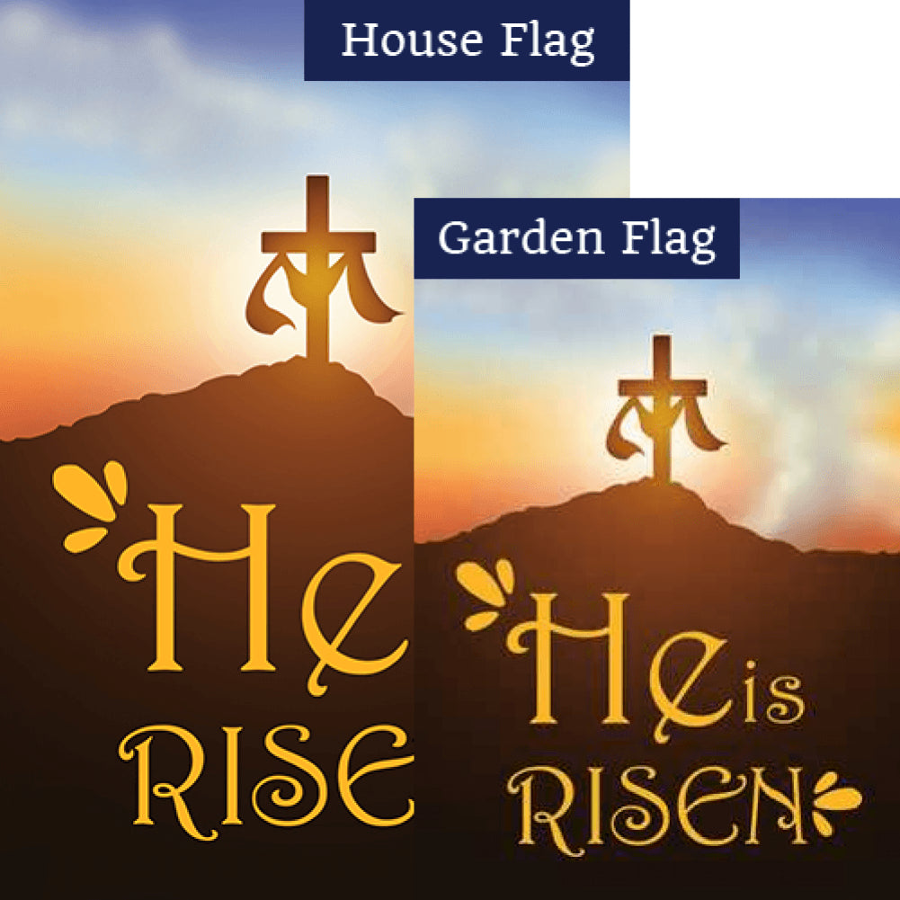 Easter Resurrection Double Sided Flags Set (2 Pieces)