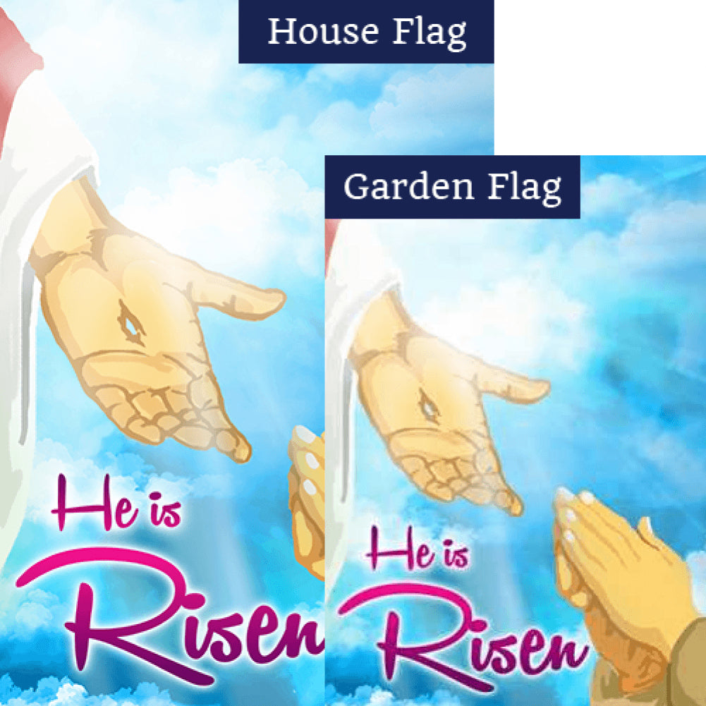 He Will Raise You Up Double Sided Flags Set (2 Pieces)