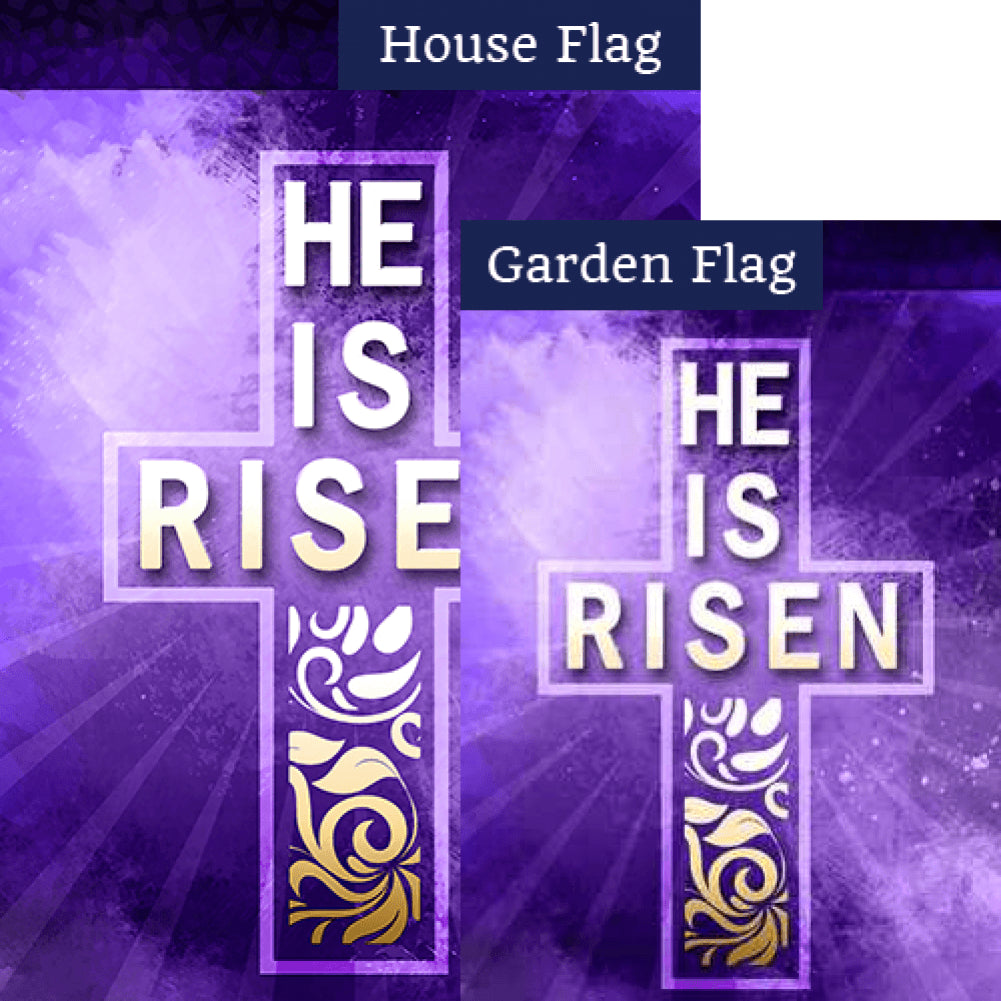 Truly He is Risen Double Sided Flags Set (2 Pieces)
