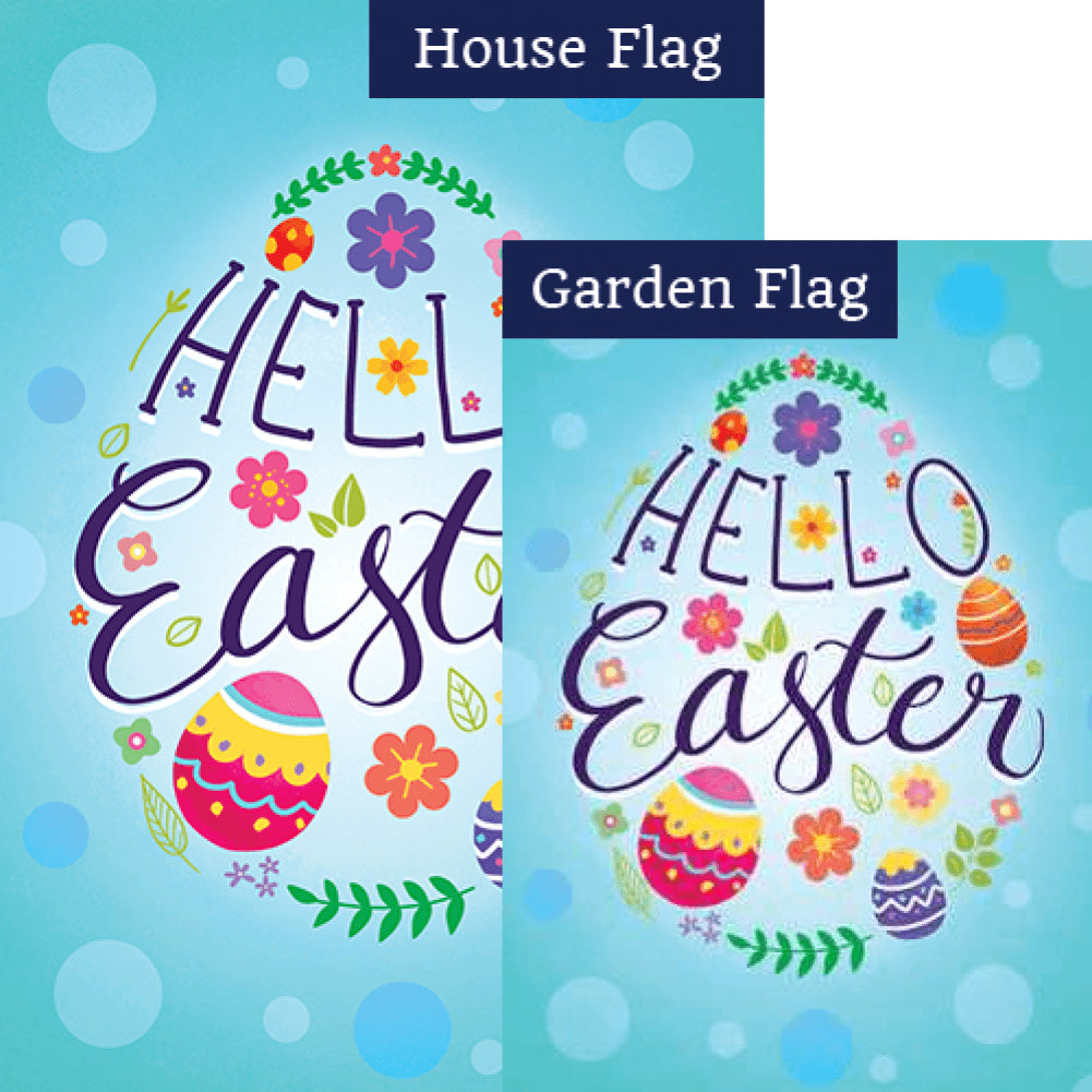 Eggsciting Easter Double Sided Flags Set (2 Pieces)