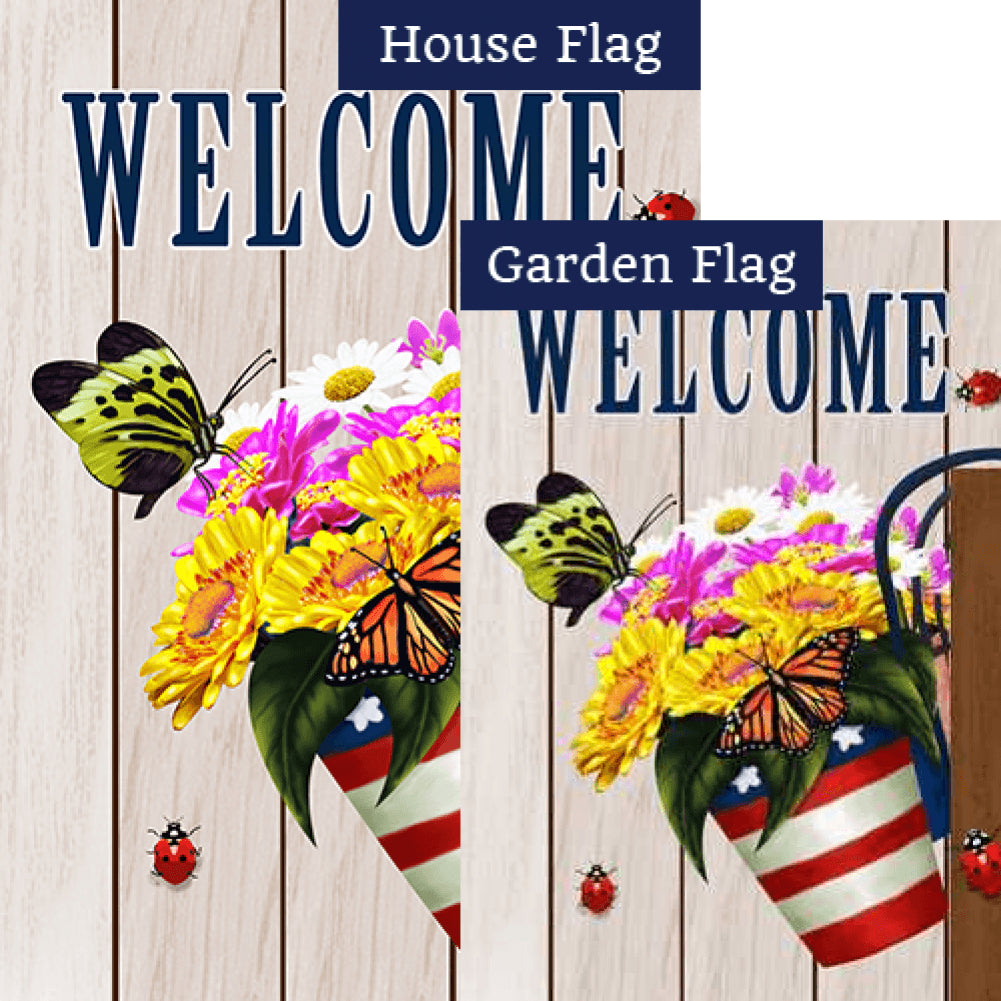 Welcome American Spring Flags Set (2 Pieces)
