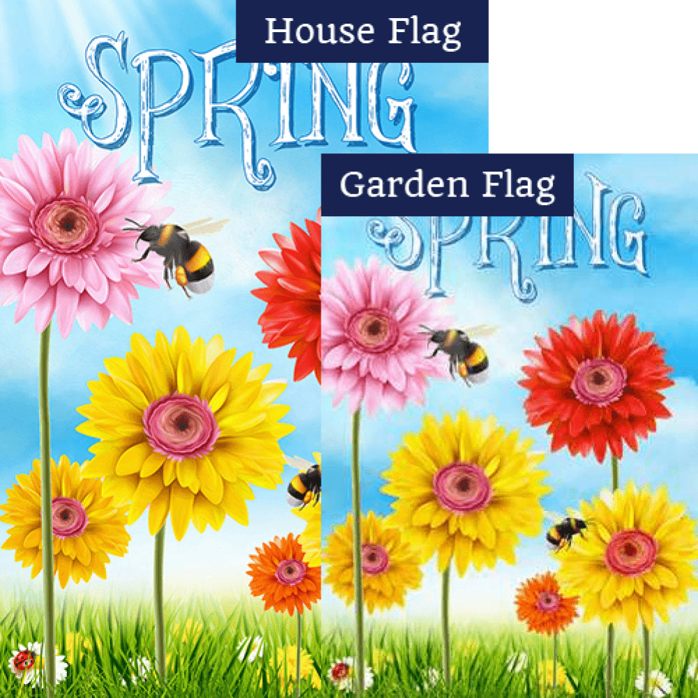 Spring Bees Flags Set (2 Pieces)