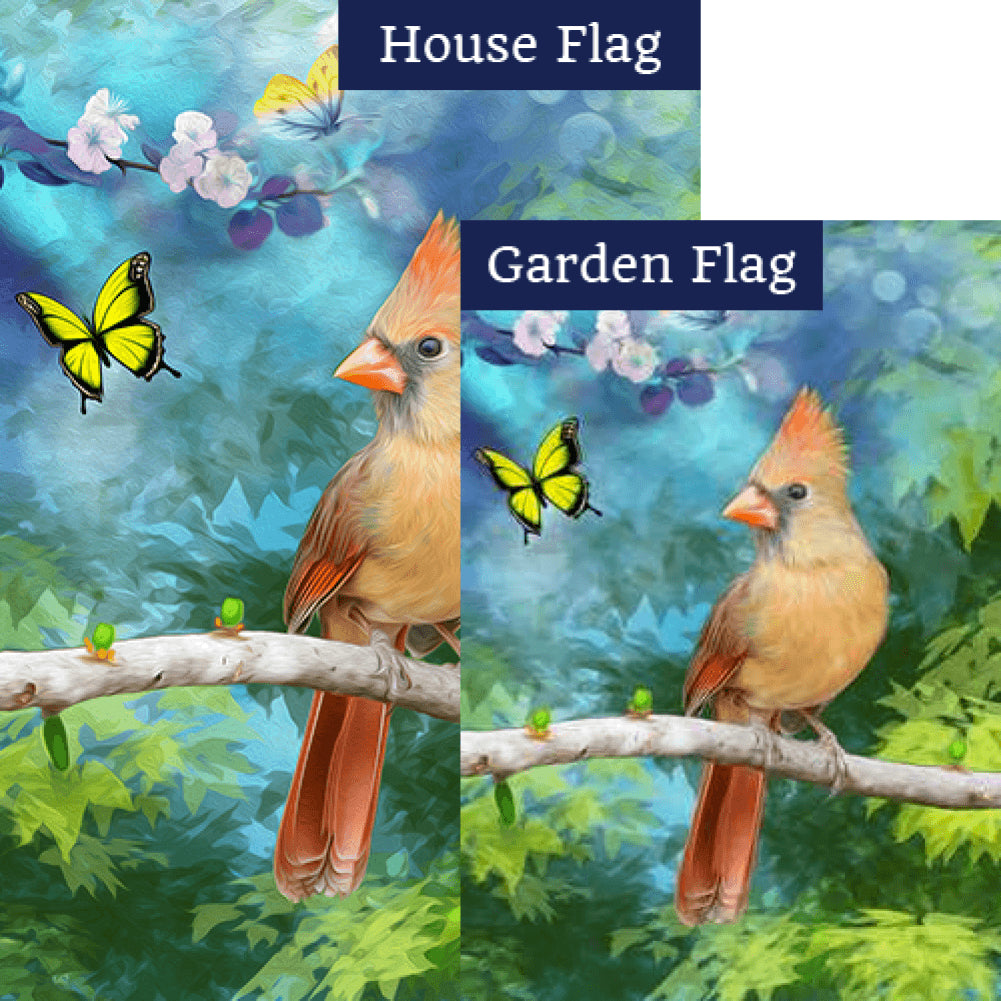 Oil Painting Cardinal Flags Set (2 Pieces)