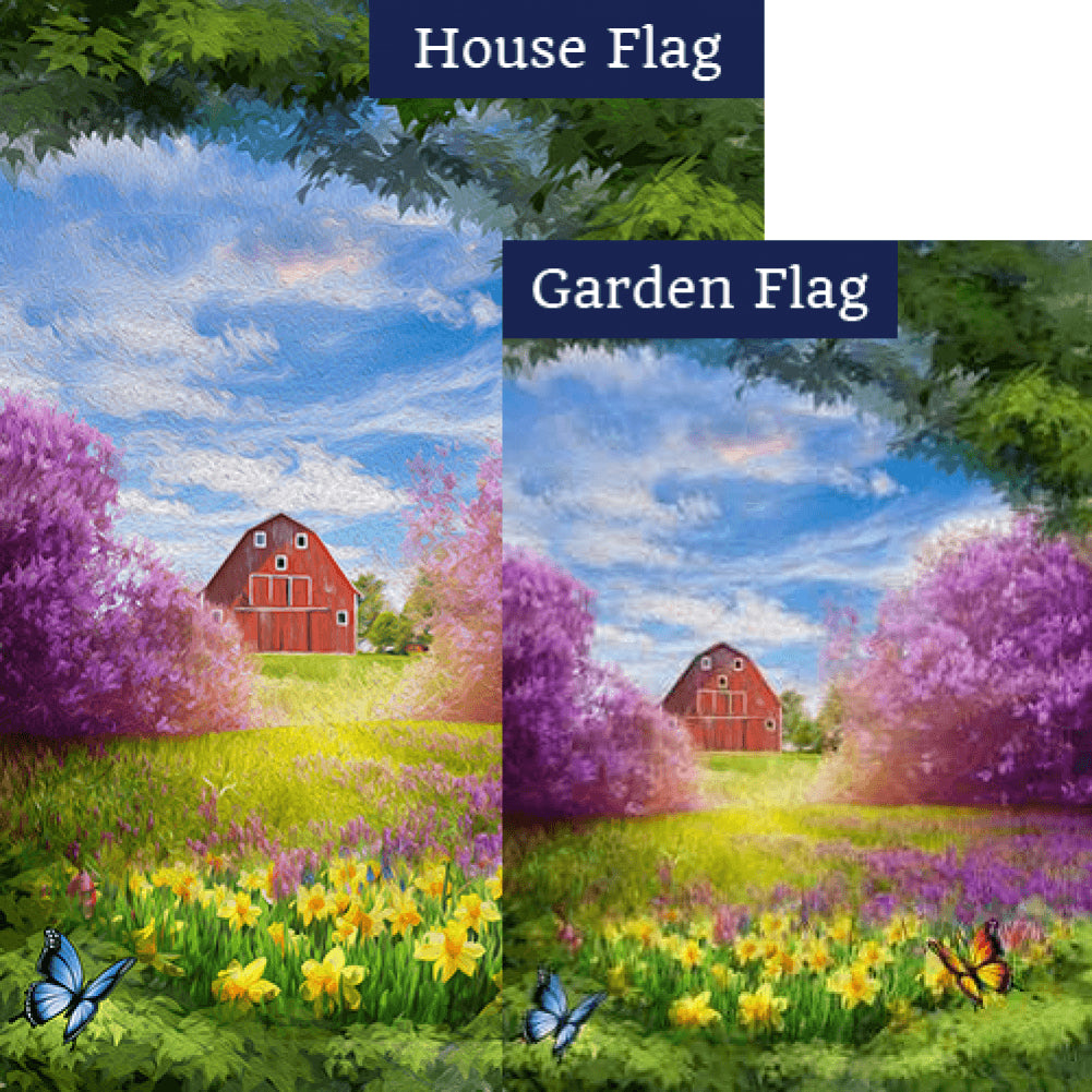 Spring Meadow Flags Set (2 Pieces)