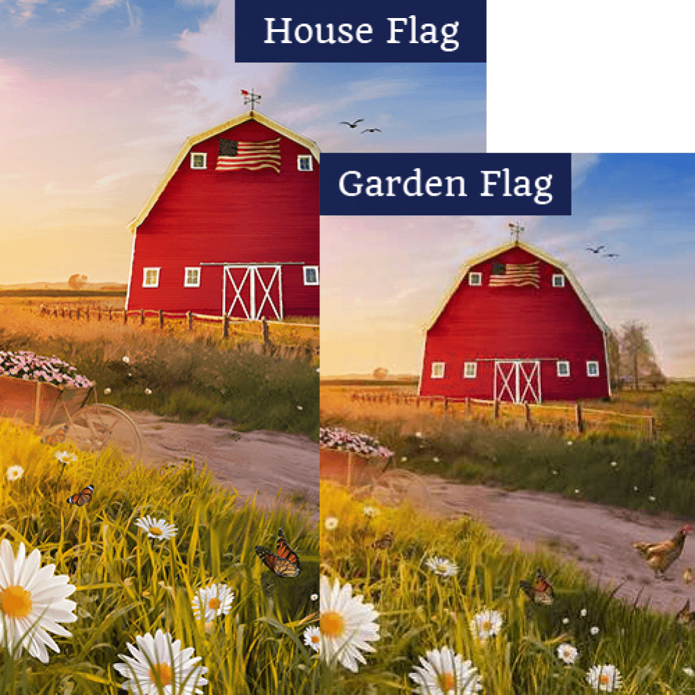 American Spring Barn Flags Set (2 Pieces)