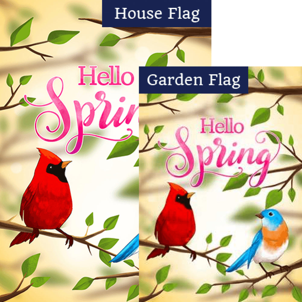 The Cardinal and the Bluebird Flags Set (2 Pieces)