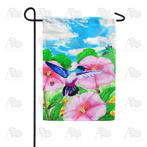 Watercolor Spring Hibiscus Double Sided Garden Flag